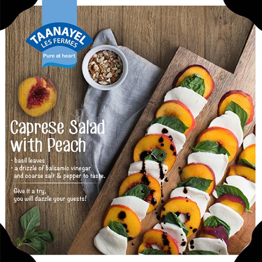 Caprese salad with peach