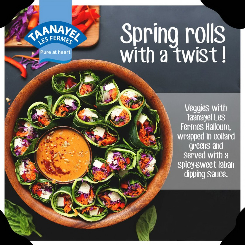 Spring rolls with a twist